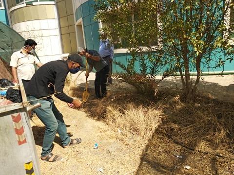 حملة ادامة الحدائق وازالة المخلفات في كلية التربية للعلوم الصرفة